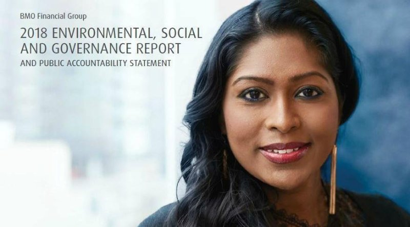 BMO Financial Group publishes its 2018 ESG Report and Public Accountability Statement