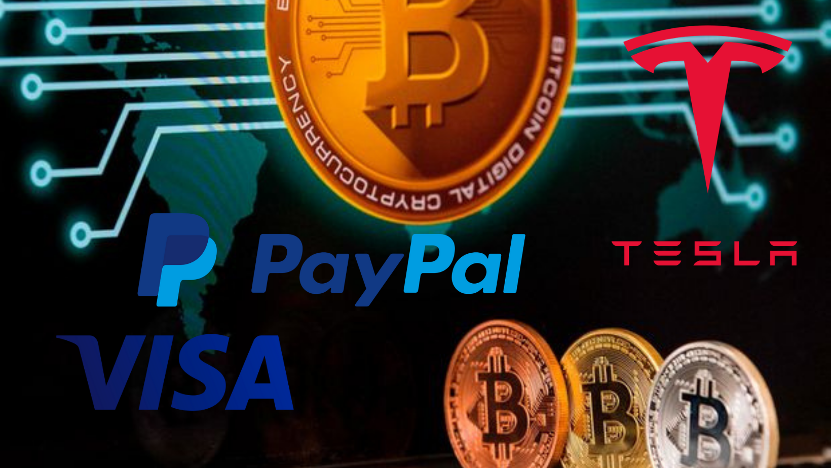 Tesla, Visa, Paypal and others embrace Bitcoin
