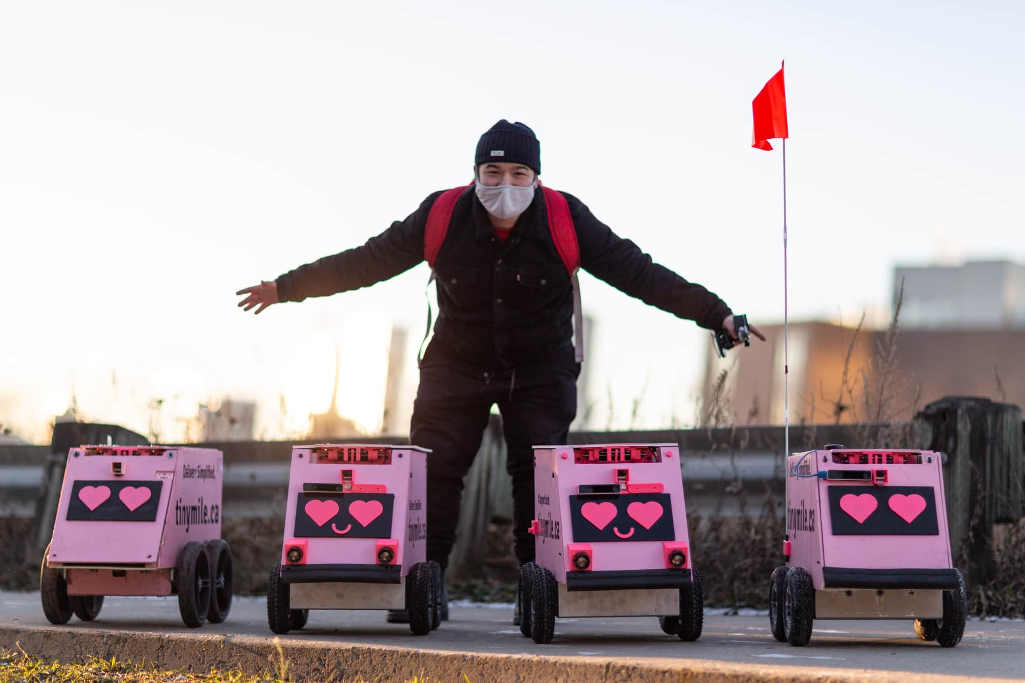 Toronto's cute pink delivery robots