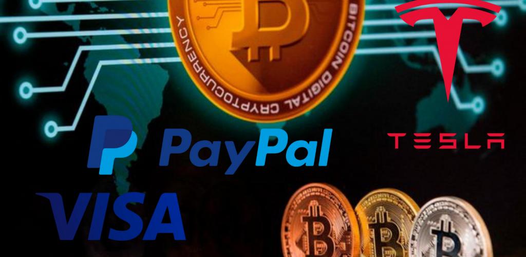bitcoin tesla visa paypal